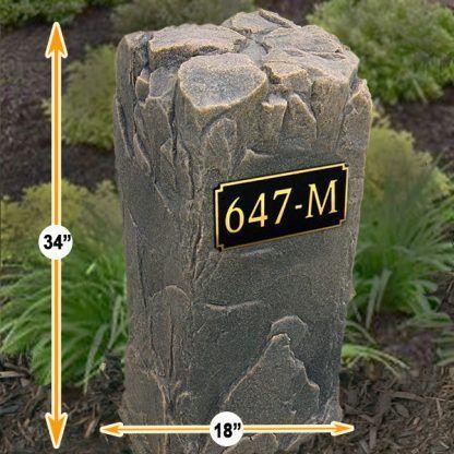 custom name rock for yard