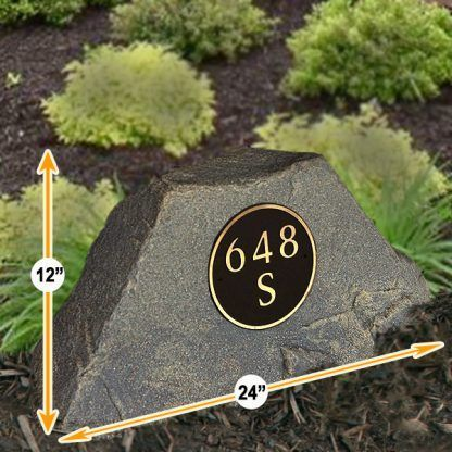 address numbers stone