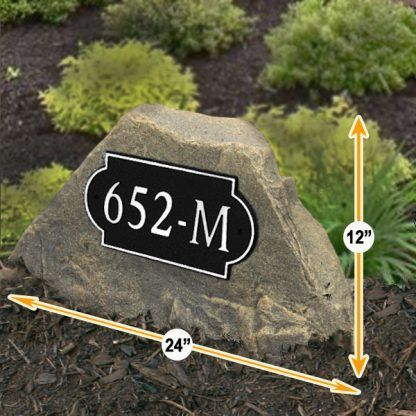 house numbers address display rock