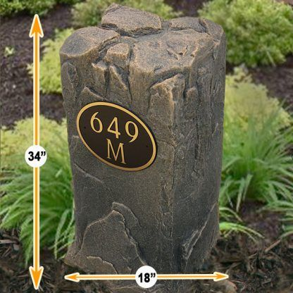 Personalized House Numbers Rock
