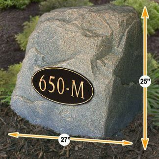 numbers sign address rocks