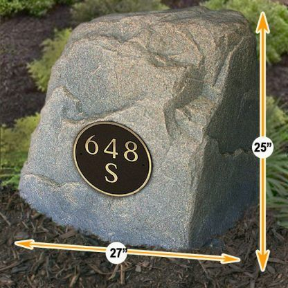 home address plaque rocks
