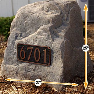 house address numbers stone