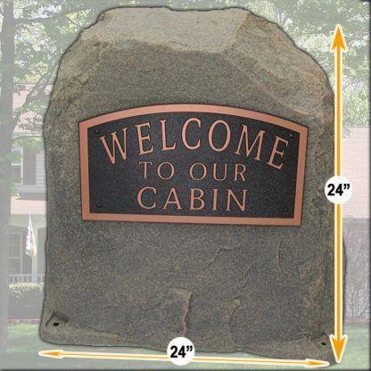 personalized address rock