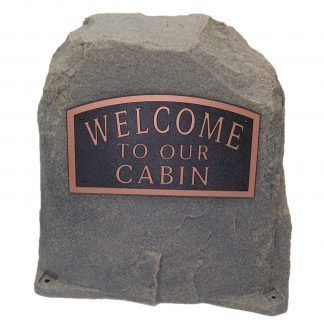 customized name plaque rock
