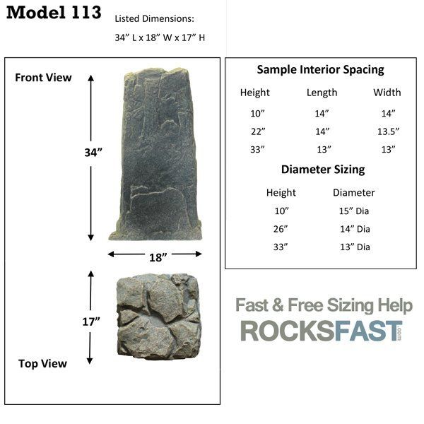 DekoRRa Mock Rock Model 113 Fake Rock Cover