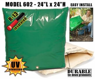 "Backflow Insulation Bag Blanket 24""L x 24""H DekoRRa 602 Backflow Pouch"