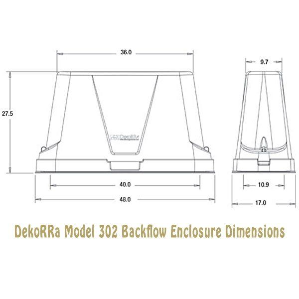 Dekorra Model 302C1 XL Heated Backflow Protection Enclosure