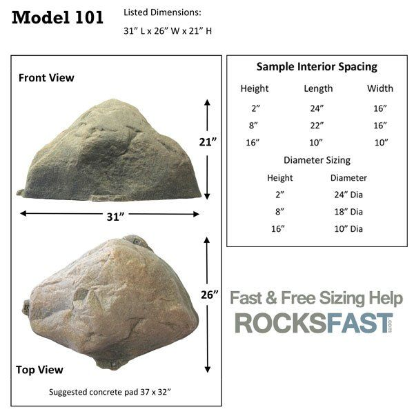 DekoRRa Mock Rock Model 101 Fake Rock Cover