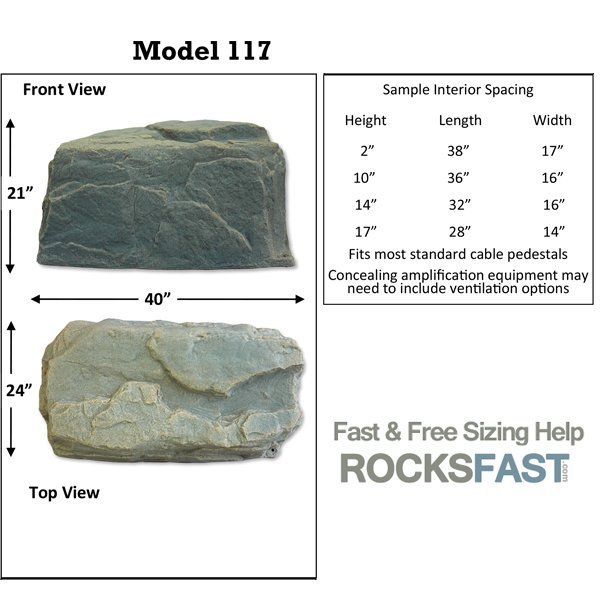 DekoRRa Mock Rock Model 117 Fake Rock Cover