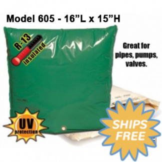 "Backflow Insulation Bag Blanket 16""L x 15""H DekoRRa 605 Backflow Pouch"